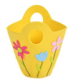 Yellow Felt Easter Basket from Joanna Wood Shop | www.joannawood.co.uk #easter #basket