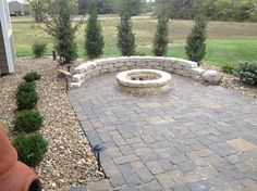 Back Yard patio and fire pit - traditional - patio - kansas city - Landmark Landscape and Construction