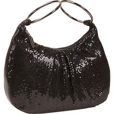 #EveningBags, #Handbags - Whiting and Davis Mesh Double Hoop Hobo - Clutch