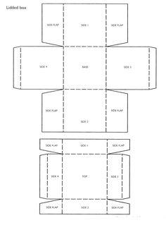 81 best box templates images on pinterest box patterns box