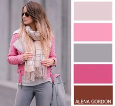 Pink grey blush color palette