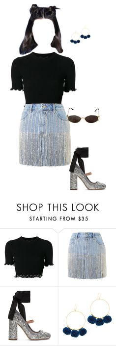 """""""what =à@3"""" the"""" by theliatevi ❤ liked on Polyvore featuring Alexander Wang, Topshop, Miu Miu, Yves Saint Laurent and Chan Luu"""
