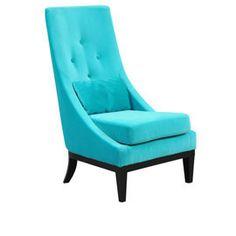 love this velvet turquoise chair! - Heal's Diamond Easy Chair Black Base Range