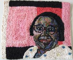 """Mary Tooley Parker, Mary Lee Bendolph, Gee's Bend Quilter, Mixed Media Textile, 15""""x15"""""""