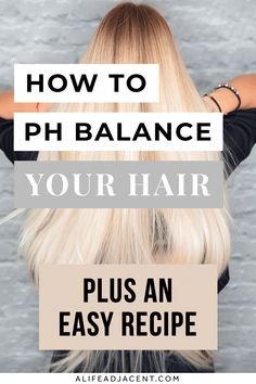If you hair is feeling dry, frizzy, or brittle, you might need to pH balance your hair! Sometimes all your hair needs is the right pH level to restore softness and shine – and balancing it is so easy once you have the right info. Learn how to balance hair pH with products, routine and home remedies. You'll discover pH balancing hair care products, plus get an easy DIY vinegar hair rinse recipe for your natural haircare routine. Hint: STOP using baking soda as a hair mask! ALifeAdjacent.com Long Hair Tips, Natural Hair Tips, Hair Care Tips, Natural Hair Styles, Vinegar Hair Rinse, Vinegar For Hair, Diy Haircare, Natural Haircare, Healthy Scalp