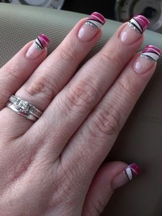 My nail lady created my own pink nail design :)