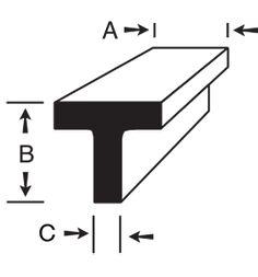 6061-T6 Aluminum T-Bar Floor Drains, Metal Working, Letters, Flooring, Bar, Stuff To Buy, Metalworking, Letter, Wood Flooring