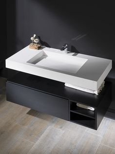 Straight lines define the new bathroom collection by Systempool, made in Krion® Bathroom Cost, Small Bathroom Sinks, Bathroom Sink Vanity, Modern Bathroom, Bathroom Design Inspiration, Bathroom Interior Design, Lavabo Corian, Latest Dining Table Designs, Ideas Baños