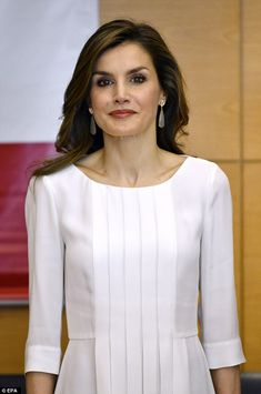 There was no evidence of Letizia's late night, despite the face she and King Felipe attend...