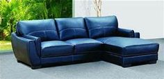 blue leather sofa - - Yahoo Image Search Results