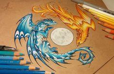 Cute Dragon Drawing, Pop Art Drawing, Dragon Sketch, Drawing Ideas, Fantasy Drawings, Art Drawings Sketches, Animal Drawings, Fantasy Art, Image Pastel