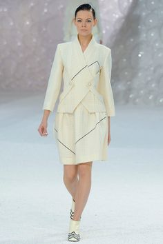 Chanel 2012 via vogue: Check out the boots! #Chanel #vogue