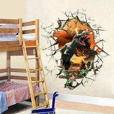 Running Dinosaur Wall Sticker Home Decor Bedroom Anarosaurus Vinyl - Dinosaur wall decals nursery