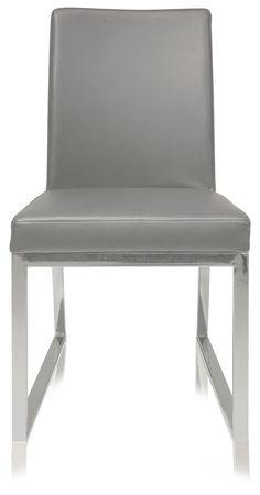 Niero Armless Modern Dining Chair Gray