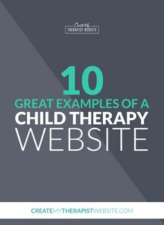 This week's article is for child therapists! I've rounded up 10 great examples of child and play therapy websites you can use for inspiration for your own. Check it out here: http://www.createmytherapistwebsite.com/10-examples-child-therapy-website/?utm_content=buffere5c17&utm_medium=social&utm_source=pinterest.com&utm_campaign=buffer