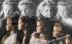 A beautiful OTMA wallpaper. Right to left: right to left: Grand Duchess Olga Nikolaievna Romanov, Grand Duchess Tatiana Nikolaievna Romanov, Grand Duchess Maria Nikolaievna Romanov, and Grand Duchess Anastasia Nikolaievna Romanov]