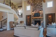 Soaring Two Story Family Room