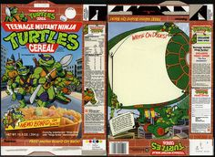 Ralston - Teenage Mutant Ninja Turtles - Memo Board - cereal box - 1990 by JasonLiebig, via Flickr