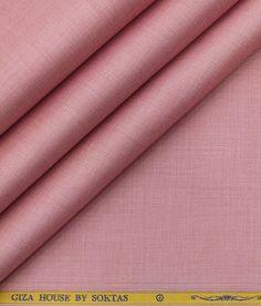 7f42f031c Soktas Men s Roselle Pink 120 s Giza Cotton Pinpoint Oxford Shirt  Fabric