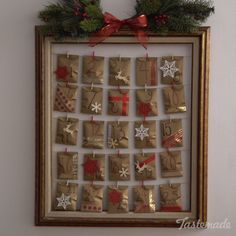 Why settle for a generic store-bought Advent calendar when you can easily make your own? Why settle for a generic store-bought Advent calendar when you can easily make your own? Diy Christmas Gifts, Christmas Projects, Holiday Crafts, Christmas Holidays, Christmas Decorations, Christmas Tables, Modern Christmas, Scandinavian Christmas, Christmas Stockings
