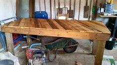 tafel uit pallethout