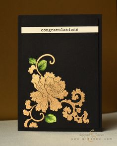 Altenew Lacy Scrolls in gold embossing