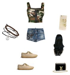 """""""Untitled #295"""" by dasia10000 ❤ liked on Polyvore featuring WearAll, Dsquared2 and Topshop"""