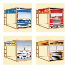 6 Ikea Hacks: KURA Children's beds | Design Joy