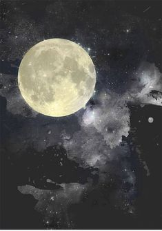 Moon art print, moon poster, galaxy art, home wall decor, apartment wall ar Art Galaxie, Broken Screen Wallpaper, Modern Prints, Art Prints, Apartment Wall Art, Moon Illustration, Art Drawings For Kids, Zodiac Art, Galaxy Art