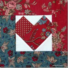 I love hearts and usually anything 'scrappy'… so this block is a favourite combination for me. I thought this would be lovely used in some Valentine sewing. This Scrappy Heart block is pieced and t…
