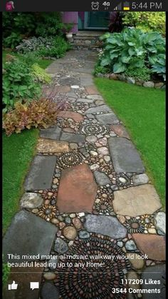 Beautiful mosaic walkway.
