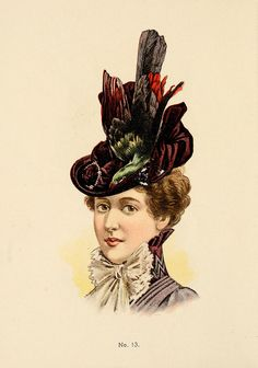 H. O'Neill & Co. Fine Millinery for Ladies, Misses & Children 1899-1900, No. 13. #Victorian #vintage #hats
