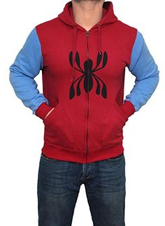 Miracle(Tm) Spider Man Homecoming 2017 Hoodie - Spider Man Costume Hoodie (Small) Spiderman Homecoming Costume, Spider Man Homecoming 2017, Spiderman Costume, Spiderman Hoodie, Mens Sweatshirts, Hoodies, Blue Hoodie, Adulting, Casual Wear