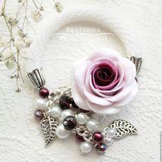 Купить Браслет Бордо - бордовый, свадьба, невеста, бордовая свадьба, марсала, винный цвет, девушка