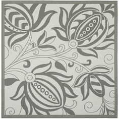 Light Grey/ Anthracite Indoor Outdoor Rug (6'7 Square) | Overstock.com Shopping - Great Deals on Safavieh Round/Oval/Square