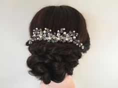 Hair Comb Wedding, Hair Combs, Pearl Hair, Wedding Hairstyles, Trending Outfits, Hair Styles, Vintage, Etsy, Fashion