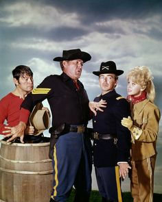 Larry Storch, Forrest Tucker, Ken Berry, and Melody Patterson of F Troop