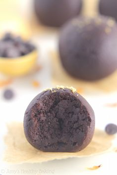 ed76098b9590 Dark Chocolate Gingerbread Truffles -- the easiest truffles you ll ever  make! Only 5 ingredients   29 calories!