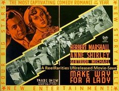 Make Way For a Lady (1936) Shirley plays cupid for her pop with comic results!