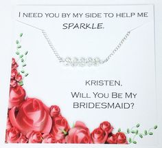 Will You Be My Bridesmaid Gift by PersonalizedSparkles on Etsy