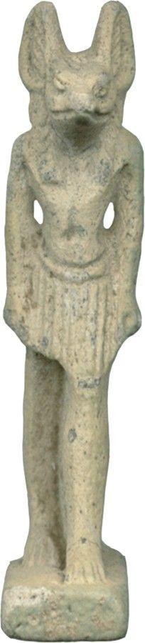 Anubis, 1070-664 BC (Third Intermediate-Late Period) Egyptian faience.