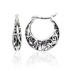 Sterling Silver Bali Inspired Filigree Round Hoop Earrings (Jewelry) http://www.amazon.com/dp/B0035LBXUM/?tag=jaspi0a-20 B0035LBXUM