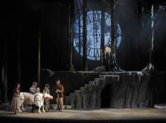 into the woods stage set - Google Search