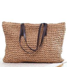 f5ba7c742c73 ... Для женщин сумки в богемном стиле пляжные сумки ручной работы плетеный  летняя сумка сумки из ротанга сумки на ремне (коричневый) купить на  AliExpress