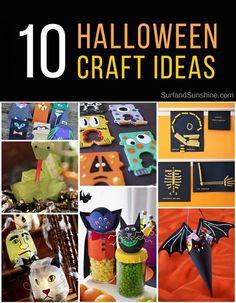 10 Fun #Halloween Crafts for Kids #DIY via @jeanabeena