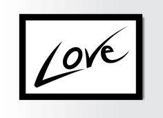 $3.50 #love #print #home #decor #minimalist