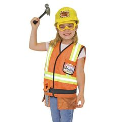 Melissa & Doug Construction Worker Role Play Costume Set (Age 3-6)