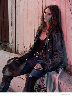 "Star of ""Pretty Little Liars"" on ABC Family, Troian Bellisario, goes west for the latest issue of Flaunt wearing cowgirl chic inspired looks. Posing for Re"