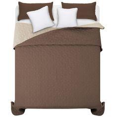 Oboustranné hnědé přehozy na manželskou postel Hotel Bed, Bed Sets, Bedding Sets, Ottoman, Chair, Luxury, Furniture, Home Decor, Beautiful