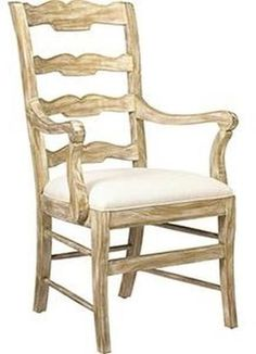 Dining Arm Chair FRENCH HERITAGE MAISON BEAUJOLAIS Country Ladderback Lad FH-508
